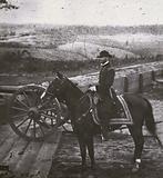William Tecumseh Sherman, American general in the Union Army during the Civil War, at Atlanta, Georgia, 1864