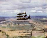 British Vickers Wellington bombers setting off on a daylight bombing raid on Germany, World War II