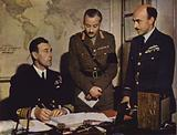 British Vice-Admiral Lord Louis Mountbatten with his staff at Combined Operations Headquarters, World War II, 1942–1943