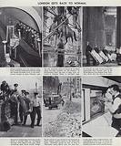 Life in London returning to normal after the end of World War II, 1945–1946
