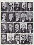Members of the cabinet of Britain's Labour government elected in the 1945 General Election