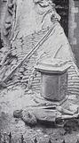 Statue of English poet John Milton in the Church of St Giles Cripplegate damaged by a German air raid on London during …