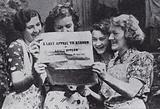 British women reading a broadsheet dropped from a German aircraft setting out Nazi leader Adolf Hitler's 'last appeal …