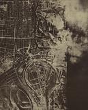 Aerial view of Stalingrad, USSR, World War II, 1942