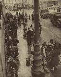 People of Naples drawing drinking water from tanks supplied by the Allied Military Government after the Nazis …