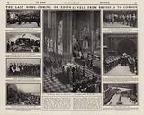 State funeral of Edith Cavell, English nurse executed in Brussels, Belgium in 1915 by the occupying Germans for …