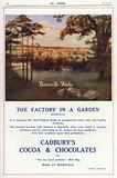 The Bournville Works, Birmingham, advertisement for Cadbury's cocoa and chocolates