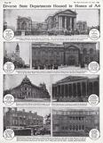 Museums and Art Galleries in London used to house government departments during World War I