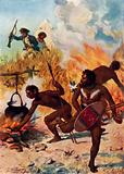 The Australian natives in Captain Cook's time