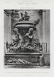 Fountain in the Court-Yard of the Palazzo Vicariato, Rome, Italy