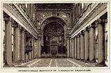Roma: Interno Della Basilica Di S Maria In Trastevere