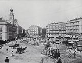 The Puerta Del Sol from the Hotel De Paris, Madrid