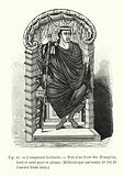 L'empereur Lothaire, Tire d'un livre des Evangiles, ecrit et orne pour ce prince