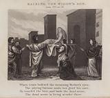 Raising the widow's son, Luke VII, ver 15