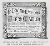 Bronze Tablet to the Memory of Jerry McAuley on the Wall of the Cremorne Mission Room
