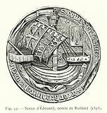 Sceau d'Edouard, comte de Rutland, 1395