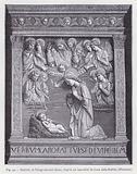 Nativite; la Vierge adorant Jesus; d'apres un bas-relief de Luca della Robbia, Florence