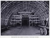 Mersey Tunnel: Preparation for Cement Gunning in the Main Tunnel