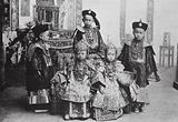 Chinese children in festal costume