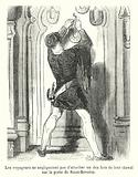 Les voyageurs ne negligeaient pas d'attacher un des fers de leur cheval sur la porte de Saint-Severin