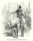Philippe de Valois apres la bataille de Crecy