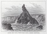 Queen Bess Rock, Bedruthan Steps, North Cornwall