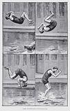 The backward somersault
