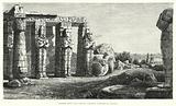 Osiride Court and Fallen Colossus, Ramesseum, Thebes