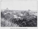 New Plymouth, New Zealand: Bird's-Eye View, Shewing Sugar Loaves and Convent