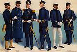 US Navy, uniforms, 1899