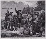 Andreas Hofer, leader of the Tyrolean Rebellion against French and Bavarian occupation rallying his troops at the …