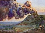 Eruption of Mount Bromo, Java, Indonesia