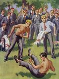 Scruff Ryder: two schoolboys having a fight