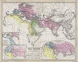 Maps showing the extent of realms of the known World in ancient times