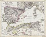 Map of the Roman provinces of Hispania, Mauretania and Africa