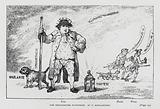 The Westminster Watchman, caricature of Whig politician Charles James Fox as a night watchman, 1784