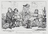 Lords of the Bedchamber, caricature of the Duchess of Devonshire, Whig politician Charles James Fox and his supporter, …