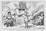 The Hanoverian Horse and the British Lion, satire on the general election of 1784 depicting the Whig and Tory party …
