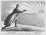 The Gheber Worshipping the Rising Sun, satire depicting Whig politician Lord Brougham anticipating the possible …
