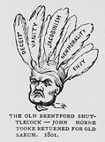 The Old Brentford Shuttlecock, caricature of Radical politician John Horne Tooke, elected MP for Old Sarum in a …