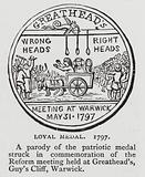 Loyal Medal, a parody of the patriotic medal struck in commemoration of the Reform meeting held at Greathead's, Guy's …