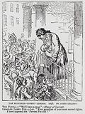 The Hustings – Covent Garden, satire depicting Whig leader Charles James Fox during the general election campaign of …