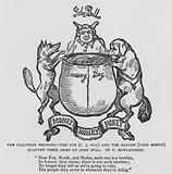 The Coalition Wedding – the Fox (Charles James Fox) and the Badger (Lord North) Quarter Their Arms on John Bull, …