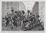 Burning a Prime Minister in Effigy, satire on the use of bribery and corruption by the Whig government of the Duke of …