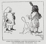 Caricature of English Whig politicians George Bubb Dodington, 1st Baron Melcombe, and Daniel Finch, 8th Earl of …