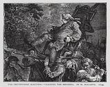 The Oxfordshire Election, Chairing the Members, satire depicting English Whig politician George Bubb Dodington being …