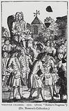 Walpole Chaired, satire depicting Whig politician Robert Walpole carried aloft by his supporters after his election to …