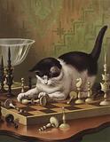 Tib Playing at Chess