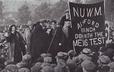 Unemployed workers from all over Britain protesting against cuts in unemployment pay, London, October 1932