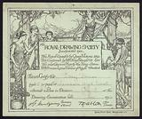 Examination certificate awarded to a pupil of Launceston High School, Cornwall, by the Royal Drawing Society, 1914